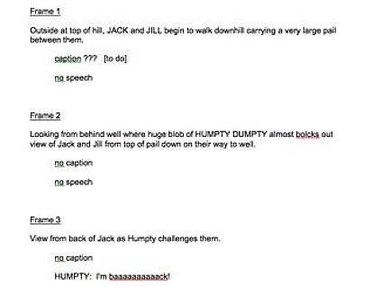 Write a comic book script