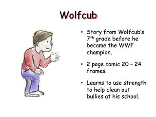 Comic Book character slide 8th grade